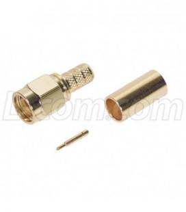 SMA Male Crimp for RG58U Cable (Gold)