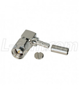 SMA Male Crimp, Right Angle for RG174, 188, 316 Cable