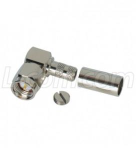 SMA Male Crimp, Right Angle, for RG58U Cable