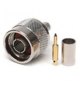 Conector RPTNC hembra (plug), crimpar, LMR195