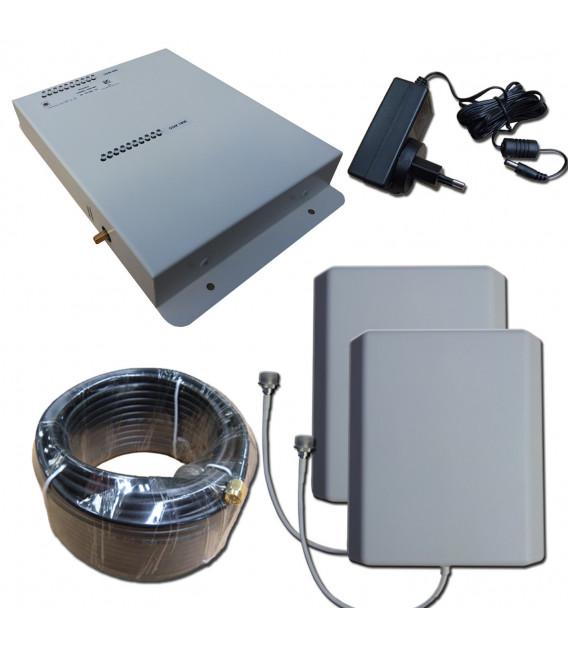 Kit Repetidor de señal doble Banda 900, 2100 MHz GSM 3G