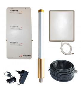 Repite la señal móvil en un barco | Repetidor tribanda MarineBoost 3.1 – 1.000M2