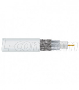 L-com White CA-195R Coax Cable Bulk Reel 1,000 Feet