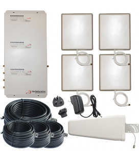 Kit Repetidor de señal, 4 salidas, Tri banda 900, 1800, 2100 MHz GSM 3G 4G*
