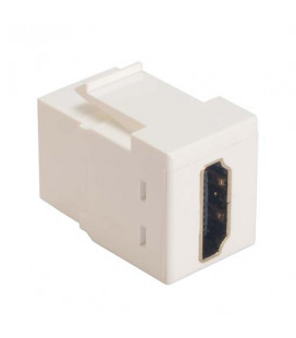 HDMI Feed Through Keystone Coupler, White