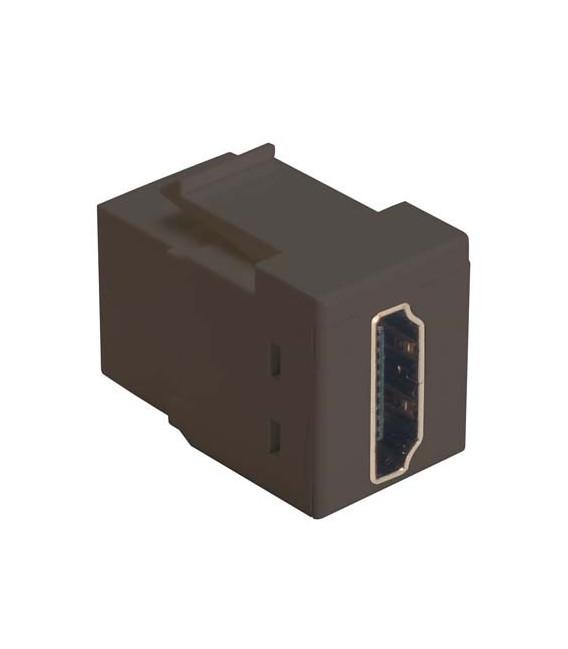 HDMI Feed Through Keystone Coupler, Black