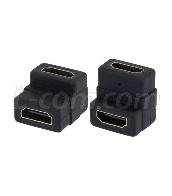 HDMI Female to Female Right Angle Adapter