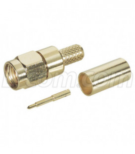 SMA Male Crimp Gold Plated for 200-Series Cable