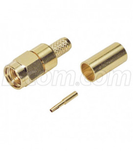 RP-SMA Plug Crimp for 200-Series Cable Gold