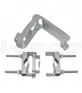Compact Metal Tilt-and-Swivel Mounting Bracket