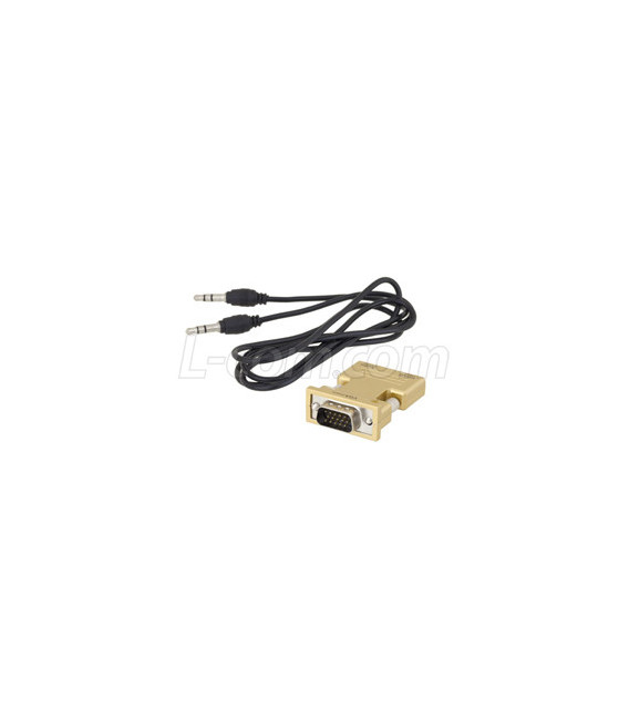 HDMI Female to VGA Male Adapter with Audio