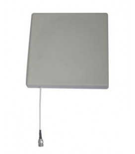 Circularly-polarized panel antenna for 868MHz, RFID antenna