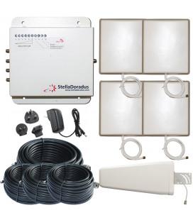 Kit Repetidor de señal, 4 salidas, banda 900 MHz GSM 3G, StellaOffice900