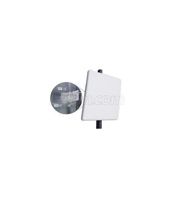 Antena Panel Direccional Doble Polarizacion de 17dBi 5.125-5.8 GHz 2 Conectores N Hembra