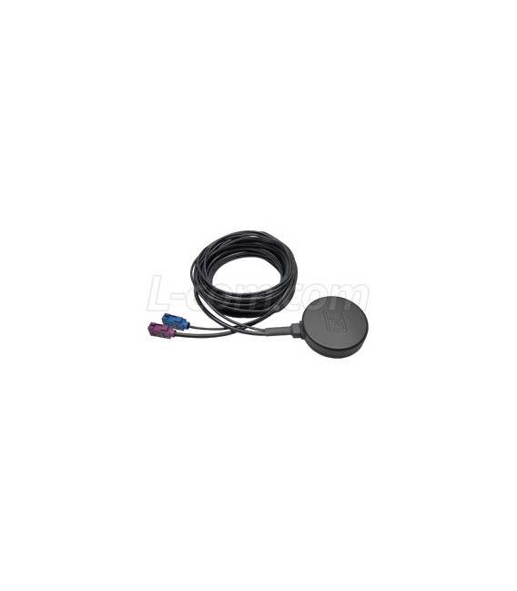 Dual Band GPS/Cellular (3G/LTE) Mobile Magnetic Mount Antenna Fakra Connectors