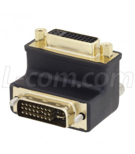 DVI 24+5 Male to DVi Female right angle adaptor