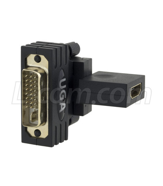DVI 24+5 male to HDMI female Swivel Adaptor