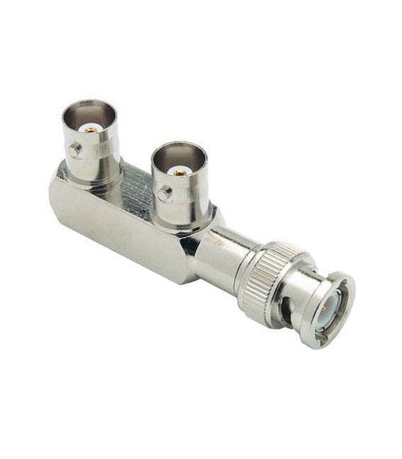 Coaxial Adapter, BNC Male / Female / Female