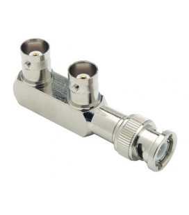 Coaxial Adapter, BNC Male / Female / Female
