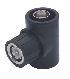 Coaxial T Adapter, BNC Female / Male / Female, Fully Insulated