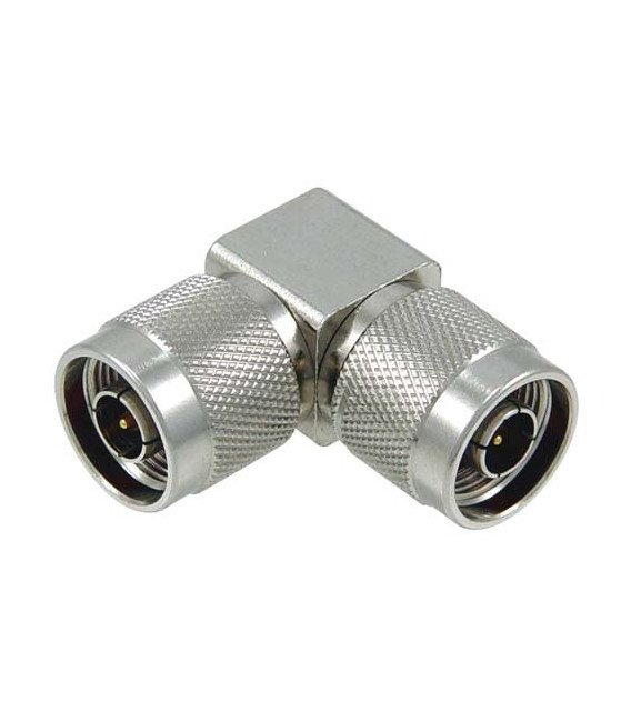 Coaxial Adapter, Type N-Male / Male Right Angle