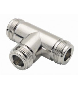 Coaxial T Adapter, N Female / Female / Female