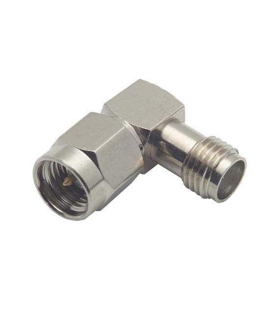 Coaxial Adapter, SMA Female / Male Right Angle