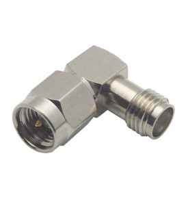 Coaxial Adapter, SMA Female / Male Right Angle