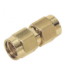 Coaxial Adapter, SMA Male / Male Gold Plated