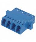 Fiber Coupler, LC / LC Quad Ceramic Sleeve