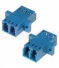Fiber Coupler, LC/LC Duplex Bronze Sleeve, Low Profile