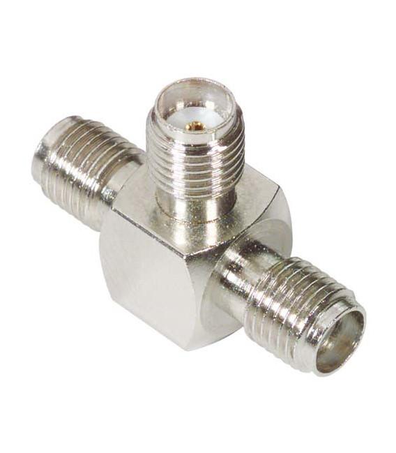 Coaxial Adapter, SMA Female / Female / Female