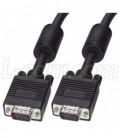 Premium VGA Cable, HD15 Male / Male with Ferrites, Black 5.0 ft