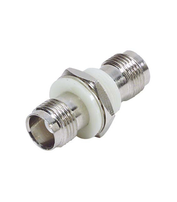 Coaxial Adapter, TNC Bulkhead, Female / Female, Insulated Ground