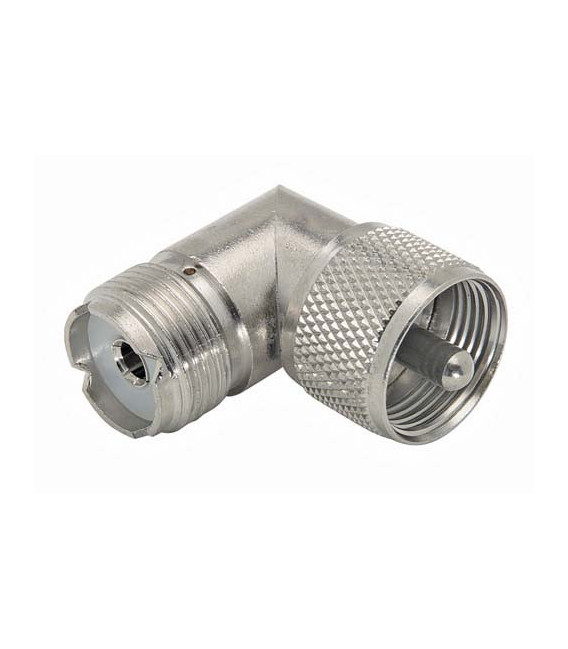 Coaxial Adapter, UHF Male (PL259) / Female Right Angle