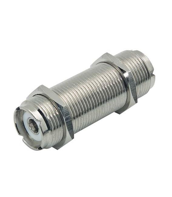 Coaxial Adapter, UHF Feed-Thru Female / Female