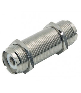 Coaxial Adapter, UHF Feed-Thru Female / Female