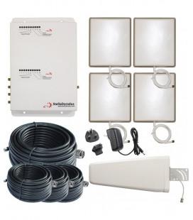 Repetidor GSM 900 y 4G 800 para la oficina | Kit de repetidor de doble banda StellaOffice StellaDoradus