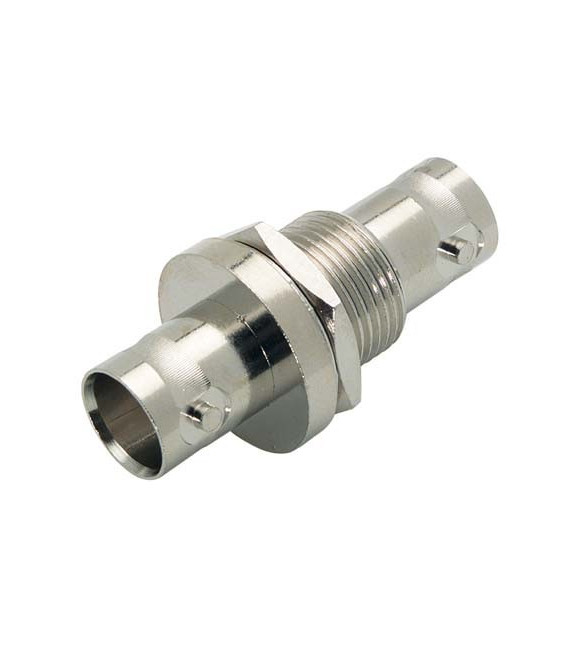 75 Ohm Coaxial Adapter, BNC Female / Female Bulkhead