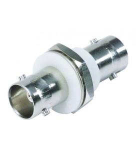 75 Ohm Coaxial Adapter, BNC F / Bulkhead, Acetal Mnt. Flange