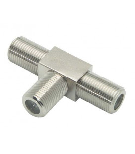 Coaxial T Adapter, F Female / Female / Female