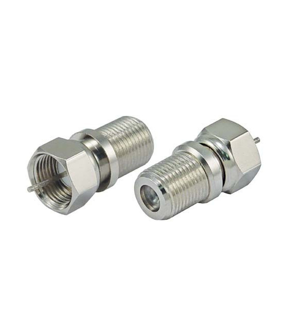 75 Ohm Coaxial Adapter, F Male / F Female