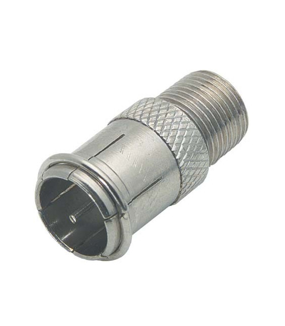 Coaxial Adapter, F Male Push-on / F Female