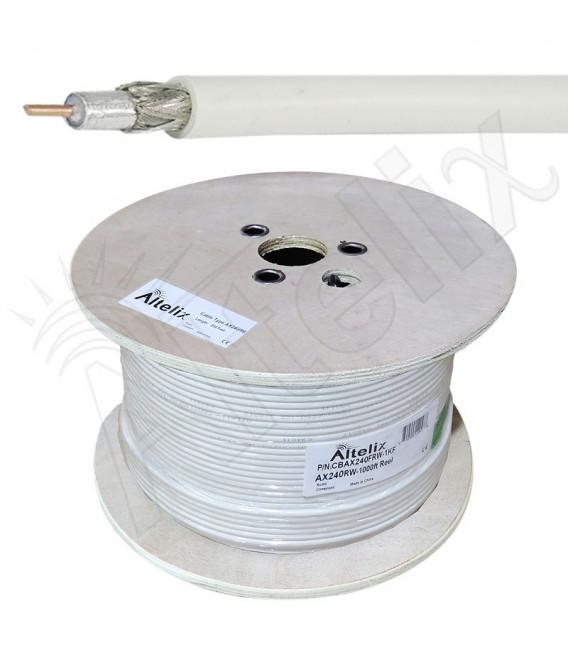 Cable coaxial 50 ohms baja perdida CA-240, metro