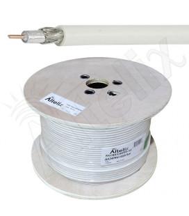 Cable coaxial Blanco 50 ohms baja perdida AX-240FR, x metro