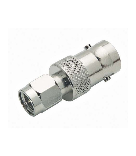 Coaxial Adapter, BNC Female / SMA Male