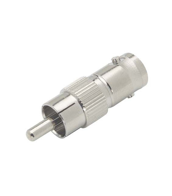Coaxial Adapter, BNC Female 50 Ohm / RCA Male