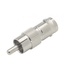 Coaxial Adapter, BNC Female 50 Ohm / RCA Male