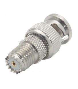 Coaxial Adapter, BNC Male / Mini-UHF Female