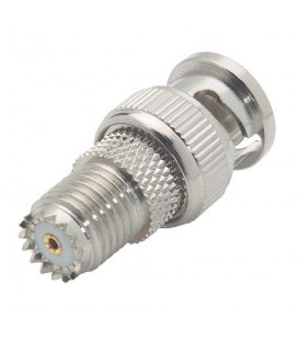 Coaxial Adapter, BNC Male / Mini-UHF Female